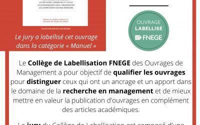 Belle reconnaissance d'un travail de qualité :le label FNEGE décerné à l'ouvrage sur la Fonction de Risk Manager de Caroline Aubry